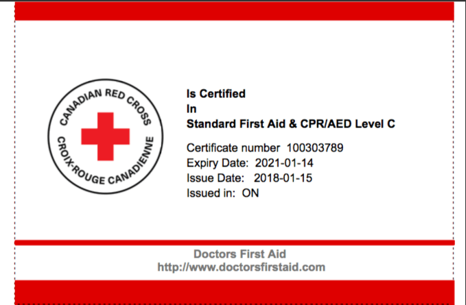 doctors first aid canadian red cross cpr aed london, on - doctors ...